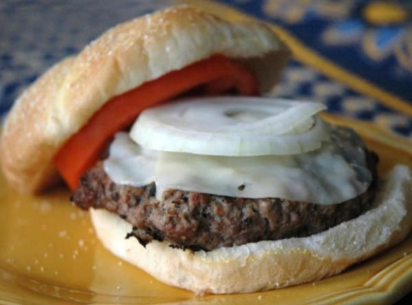Juiciest Hamburgers Ever Recipe and doesn't include mayo in the patty ingredients!
