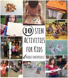 Budget STEM Activities For Kids- 10 building challenges using materials you already have at home. Great for science, math, team-building, destination imagination instant challenges, makerspaces, and just fun with friends!