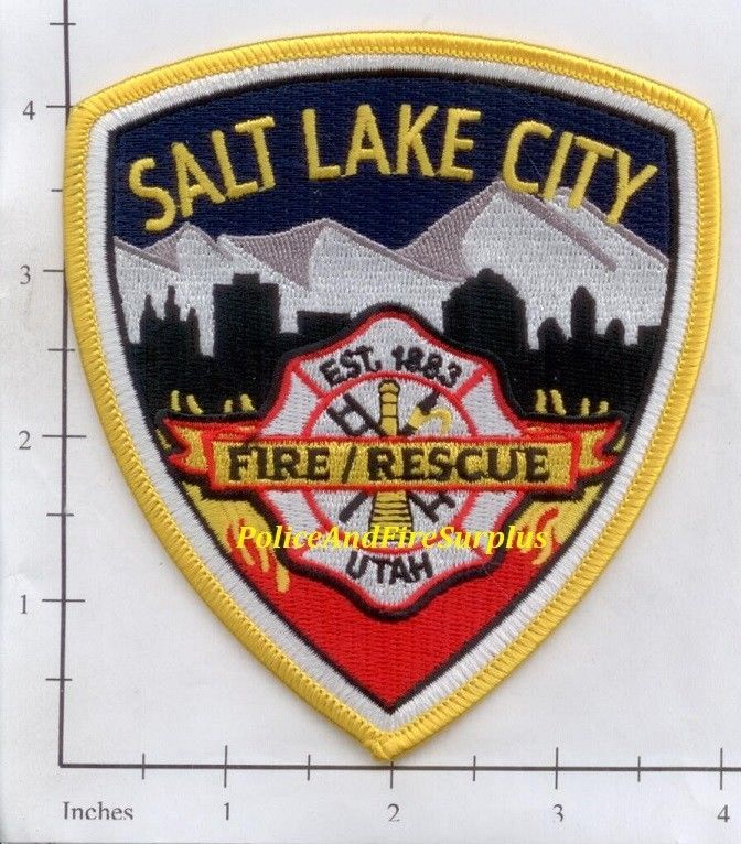 Salt Lake City Fire Department Emergency Services Patch Utah UT v2