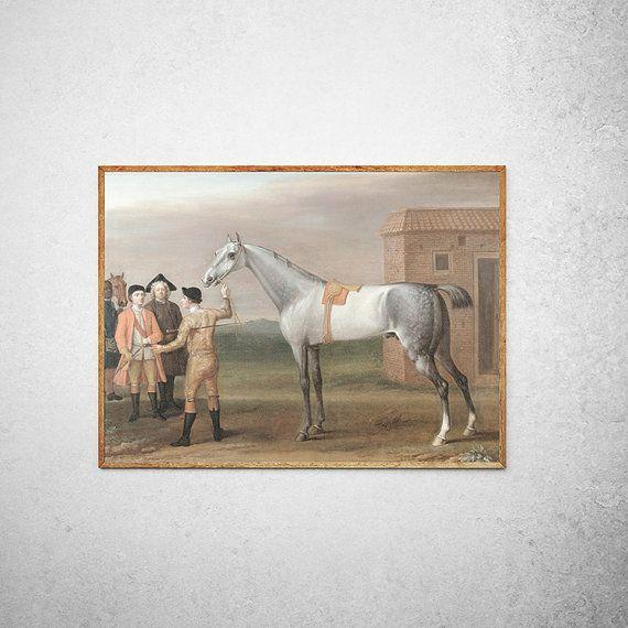 22 x 18 Kids Room Wall Art Dapple Grey Horse by anewalldecor