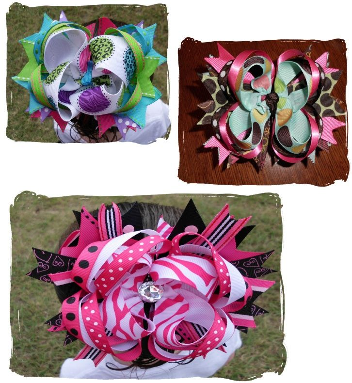 How to Make Boutique Hairbows   pretty much step by step with pictures..  I should be able to figure this out