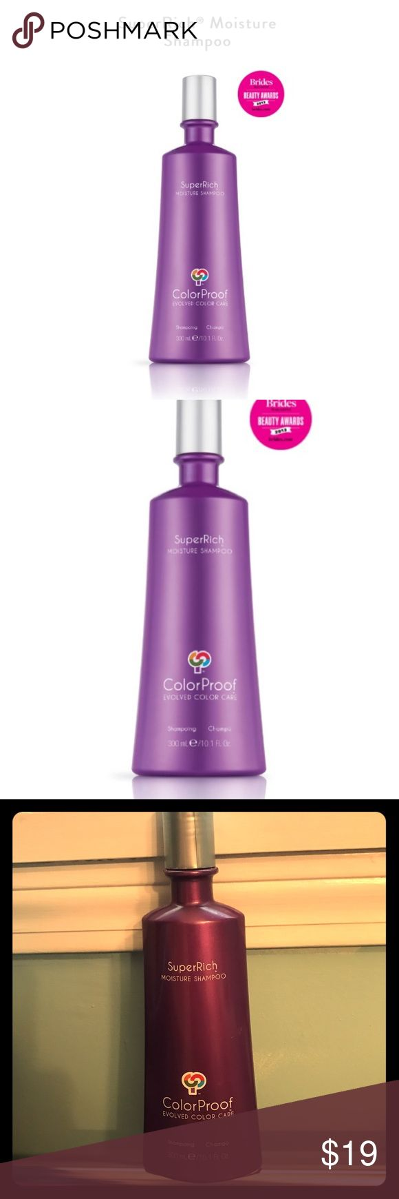 SuperRich Moisture Shampoo by ColorProof SALON Exl BNIB never used. Salon Exclusive. Nourish tresses with lightweight moisture while gently cleansing. This breakthrough formula envelopes hair in a luxurious billowy lather that rinses clean, leaving color  http://www.erodethefat.com/blog/lean-belly/
