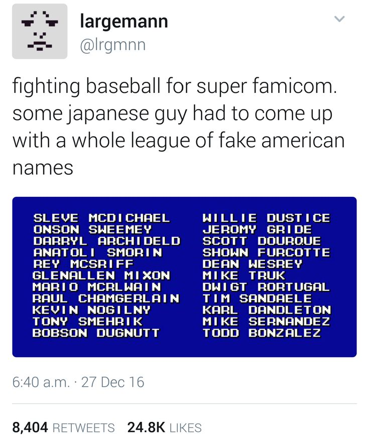Japanese guy has to think of American names for a baseball video game : AccidentalComedy