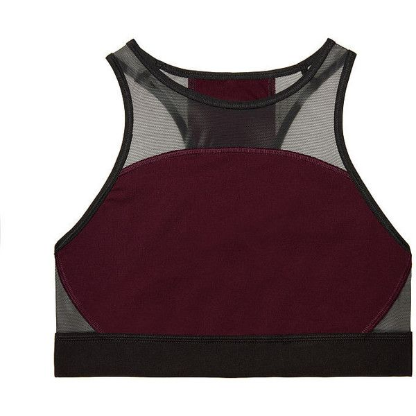 Pink Maroon High Top Sports Bra ❤ liked on Polyvore featuring activewear, sports bras, victoria secret sports bra, victoria's secret, pink sportswear, victoria secret activewear and pink sports bra