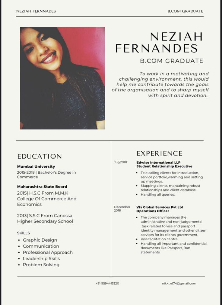 Modern resumes in 2020 University student, Modern resume