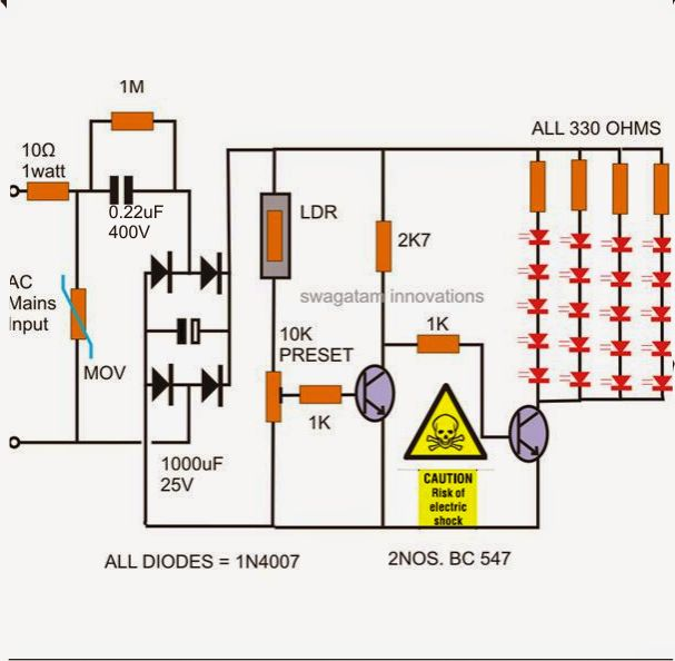 10 best led lamp circuit schematic diagramm images on pinterest rh pinterest com Light Wiring Diagrams Multiple Lights Security Light Wiring Diagram