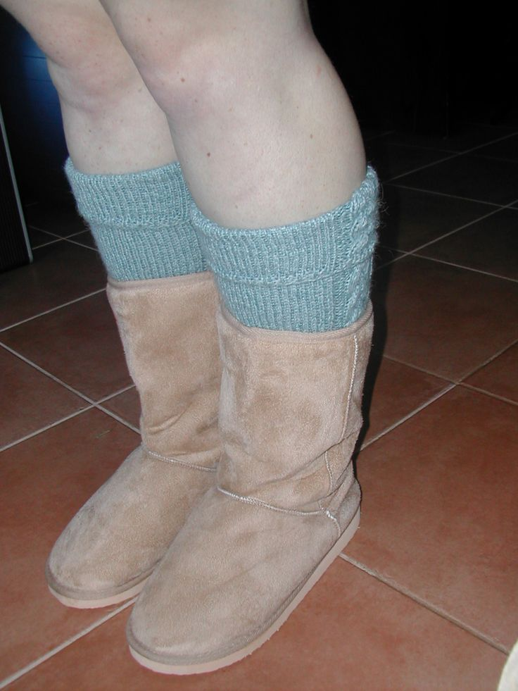 My daughter's Cable Knit Knee Socks to wear with her Ugg's