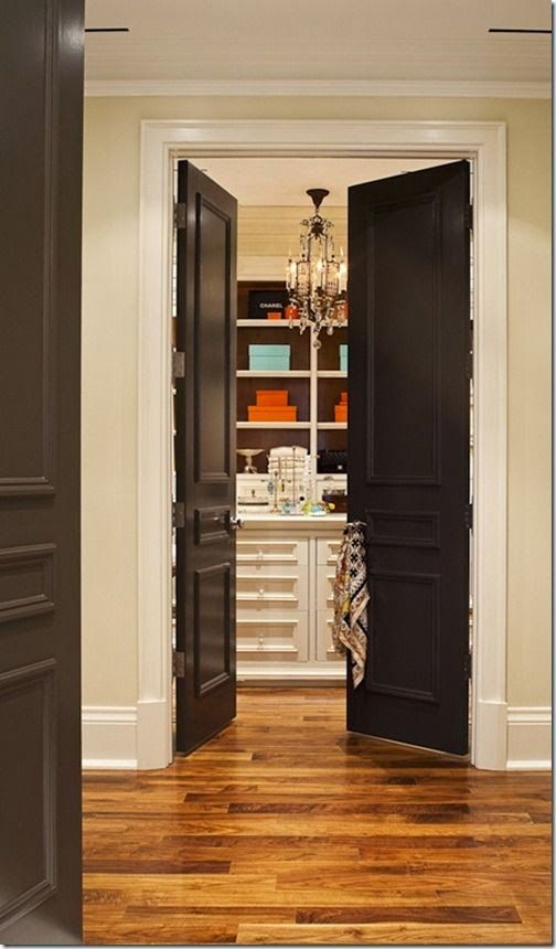 My Sweet Savannah: ~painting interior doors black~