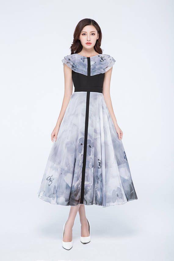 bloque Vestido de color vestido negro vestido de mariposa