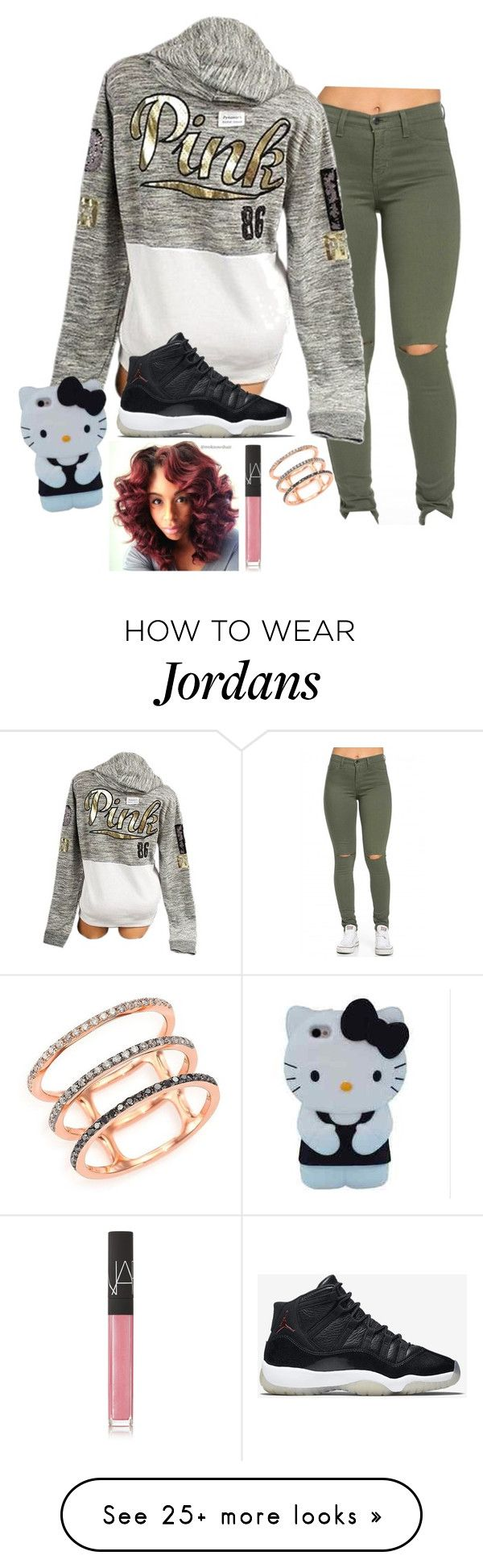 """Hah"" by justsopretty on Polyvore featuring Victoria's Secret, NIKE, NARS Cosmetics and EF Collection"