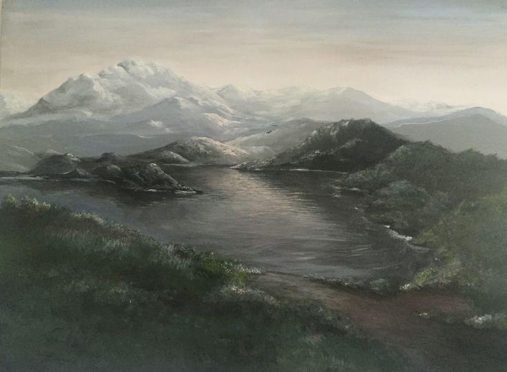 Big acrylic painting  Landskape