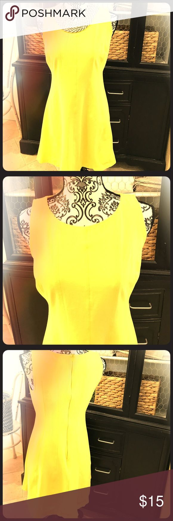 Ann Taylor yellow sundress This bright and cheery yellow sundress from Ann Taylor is a perfect spring dress for any occasion! Dress it down for a casual Saturday or dress it up for work! It is very versatile! Made of Rayon/Nylon and Spandex! Will fit your body nicely and still have some stretch for comfort! Ann Taylor Dresses