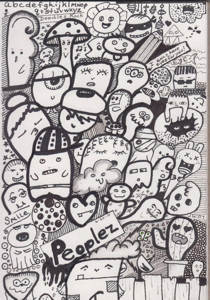 87 best doodle art eyes faces images on pinterest for Doodle art faces