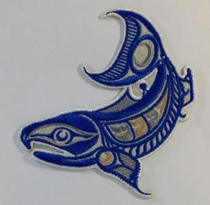 Embroidery Iron On Patch - Salmon - Gene Suyu