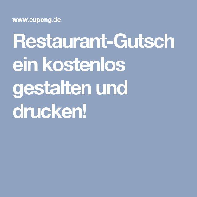 Restaurant-Gutschein kostenlos gestalten und drucken!