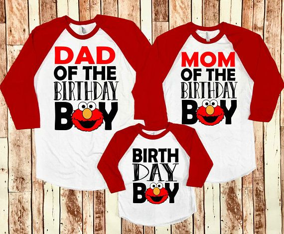 Elmo Birthday Shirt, First Birthday, Elmo Birthday, Sesame ...