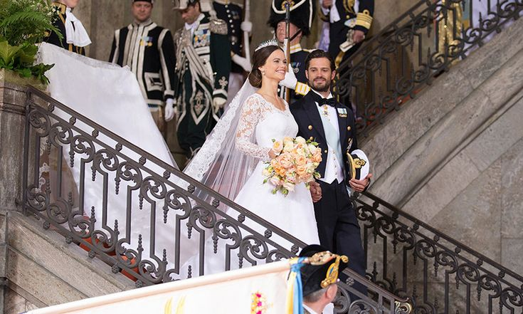 Having chosen a fashion house from her native country to design her gown, Sofia took after her sister-in-law Victoria. Photo: Getty Images