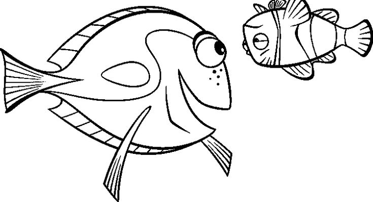Finding Nemo Dory And Marlin Sad Finding Nemo Coloring