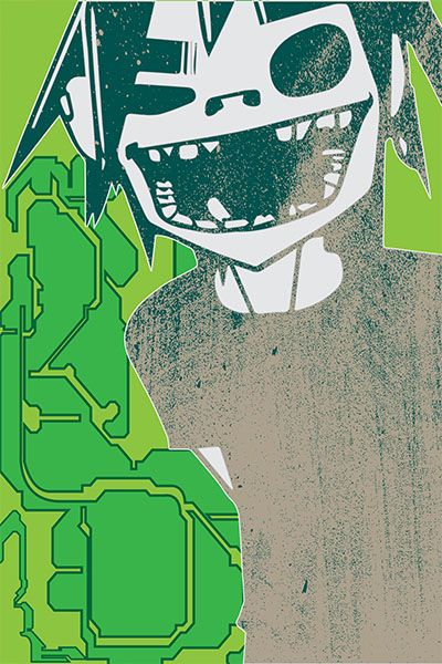 Gorillaz 2D Wall art from $52, rendered to a size that suits. To order visit : www.artofwall.pictures or message contact@artofwall.pictures with your size requirements. Price includes free delivery to your door. Colour variations are also available.