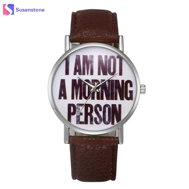 Hot Sale Women Watch Fashion Stylish Letters Printed Leather Band Ladies Female Clock Casual Sport Watches relogio feminino