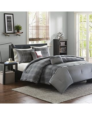 Fall is Here! Get this Deal on Intelligent Design Daryl 5 Piece Comforter Set, Grey, King/California King