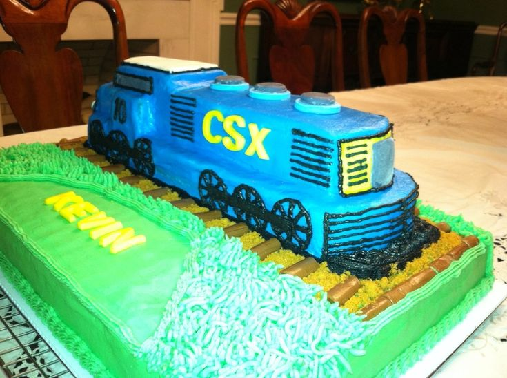 Csx train cake carved train engine from loaf cakelarge
