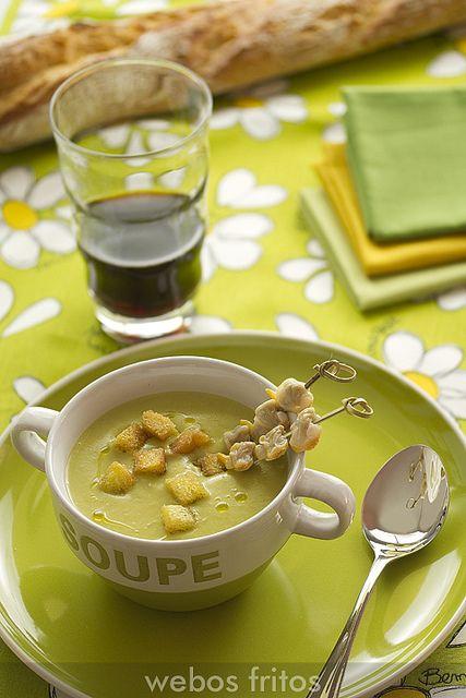 Receta de crema de calabacín y guisantes  | Cantabria |España. Premio al mejor blog de cocina