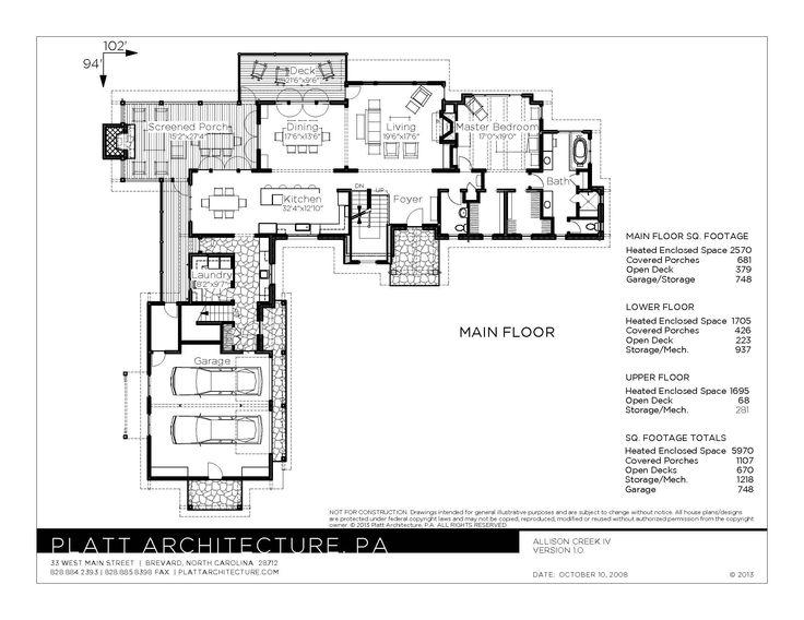 Allison Creek Interior Remodel Architecture Floor Plans