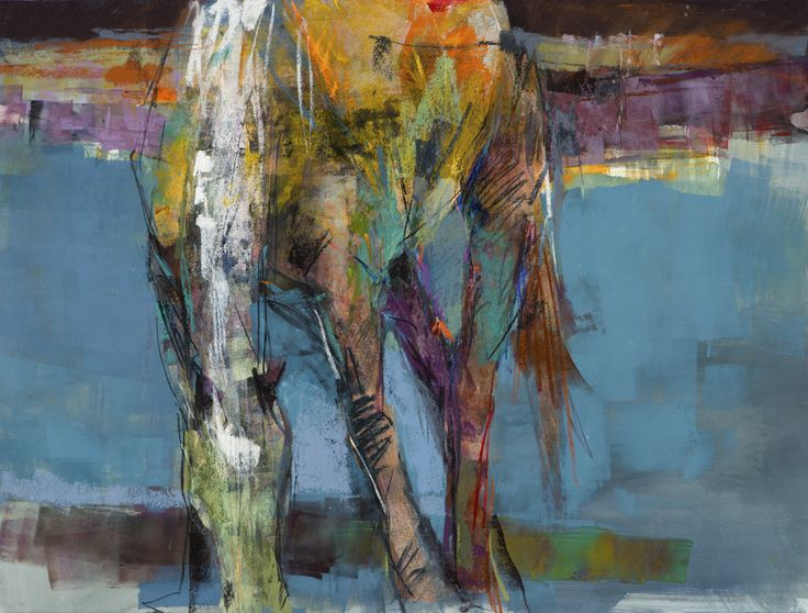 Grazing the Blues by Dawn Emerson | Creation | Horse art ...