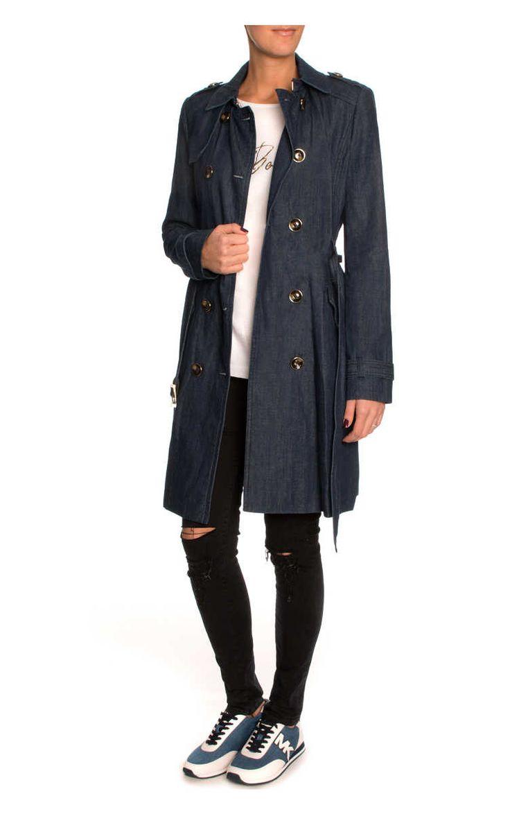 Trenchcoat Chambrey Two Tone DARK INDIGO - Juicy Couture - Designers - Raglady