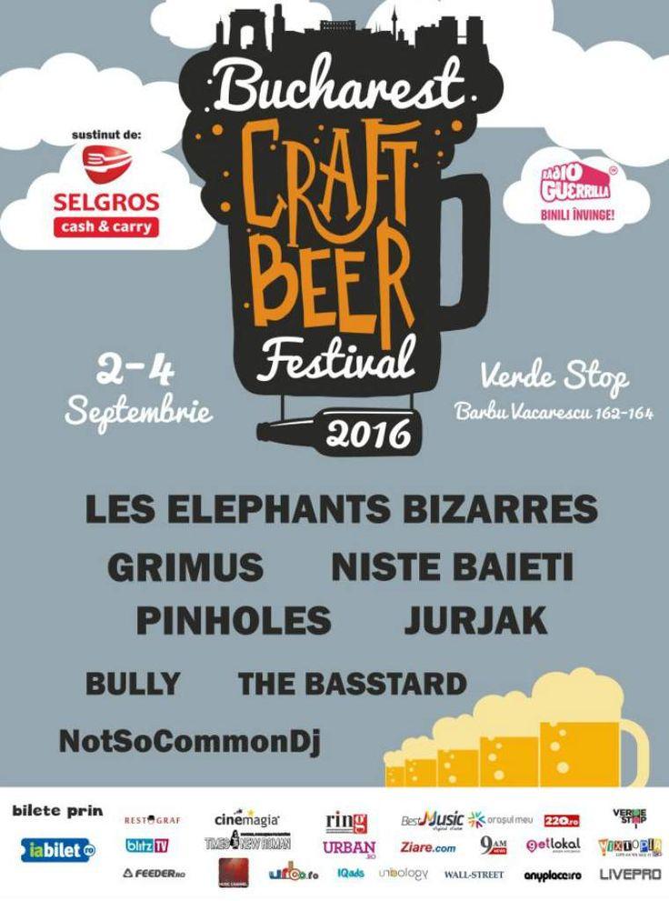 Peste 50 de sortimente de bere, trei tipuri de cidru si un gratar gigant, la Bucharest Craft Beer Festival, care va avea loc intre 2-4 Septembrie, la Verde Stop (Barbu Vacarescu 162 - 164).  🍺🍺🍺🍺🍺