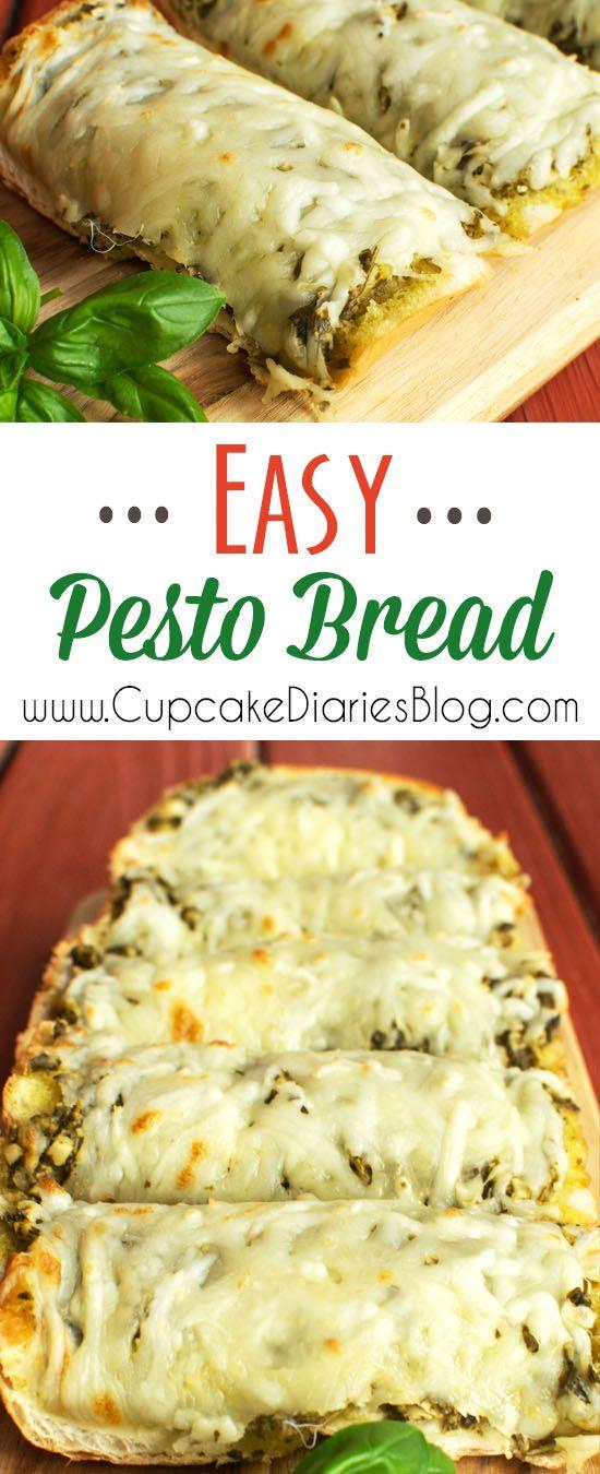 Easy Pesto Bread #BacktoSchoolReady #ad