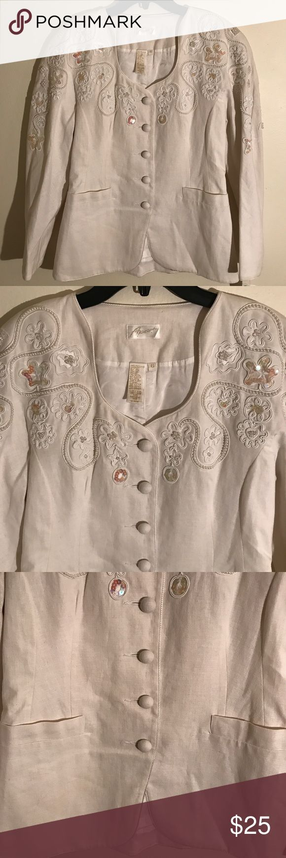 😳$15 SALE😳Apart Absolutely Stunning White Blazer EXCELLENT CONDITION NO FLAWS!Details, measurements and modeling photos coming Monday . If you're interested and need to know, please message me.YOU CAN CHOOSE TO PURCHASE ONLY 1 ITEM, BUT YOU CAN ONLY PURCHASE UP TO 3 ITEMS PER ORDER. OR YOUR ORDER WILL BE CANCELLED. Apart Jackets & Coats Blazers