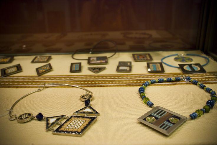 Maggie Sierralta - ethnic necklaces - ceramic, silver, stones