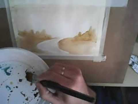 ▶ Acuarela paso a paso, primer ejercicio, tu primera acuarela: Como Pintar con Acuarelas - YouTube