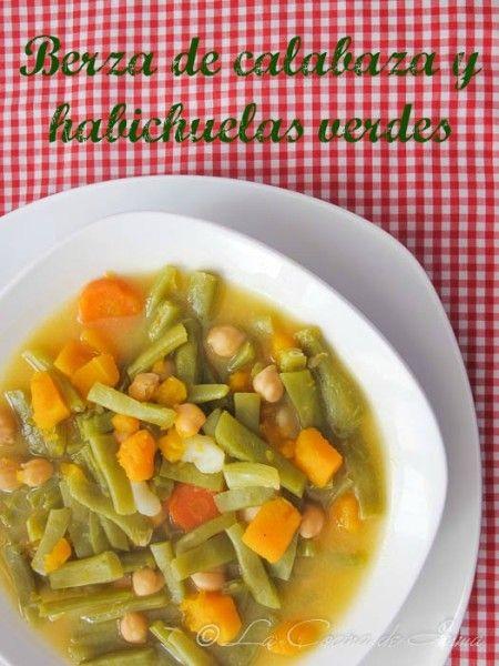 Berza de habichuelas verdes y calabaza #saboramalaga receta / Green beans and pumkpin traditional Spanish stew, Málaga style recipe