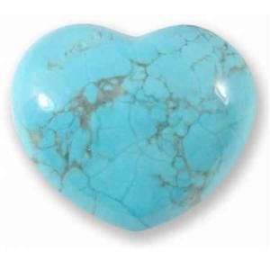 Turquoise Howlite Heart Large