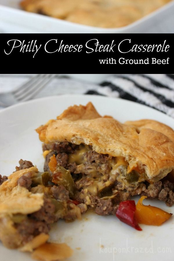 Recipes With Ground Beef Lettuce Wrap: Philly Cheese Steak Casserole With Ground Beef