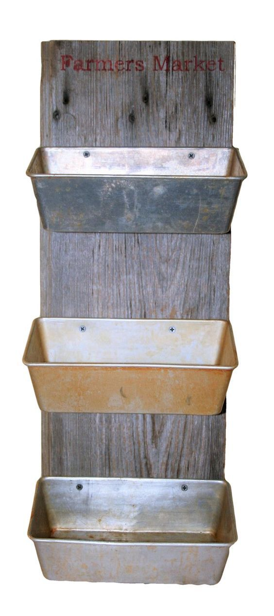 cool Repurposed loaf pans and barn wood make great hanging produce storage.... by http://www.best100-home-decor-pics.club/outdoor-kitchens/repurposed-loaf-pans-and-barn-wood-make-great-hanging-produce-storage/