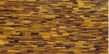For the interior designer with a flair for the extraordinary, this brick-pattern Tiger Eye semiprecious stone is ideal.
