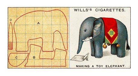 Will Cigarette Card - elephant pattern