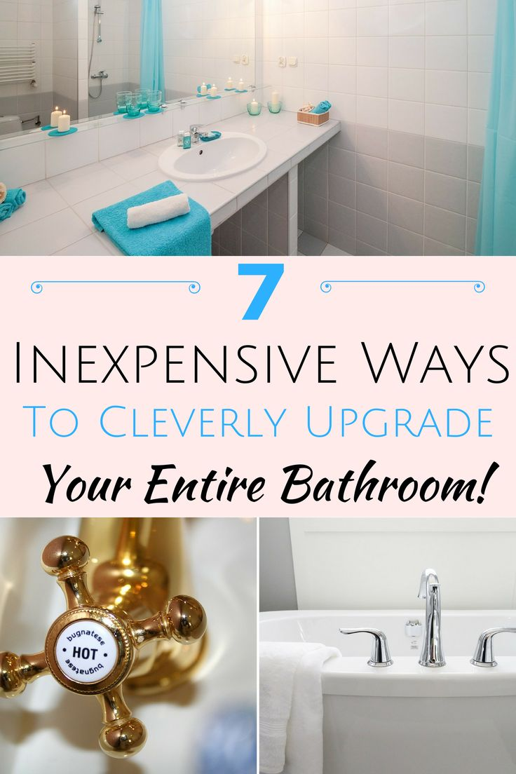 So you've decided your bathroom needs a whole new face-lift. Well in this post, I've found 7 inexpensive ways to update your bathroom on a budget - https://withnaturalgusto.com/7-inexpensive-ways-to-upgrade-your-bathroom/ - bathroom decor ideas on a budget paint, home decor ideas on a budget bathroom