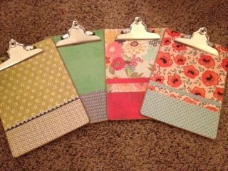 DIY Clipboards using Mod-Podge and Scrapbook Paper