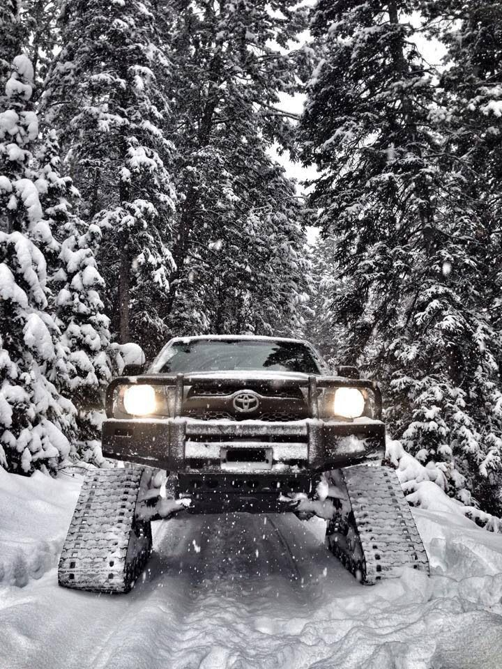 Toyota Tacoma with Tracks