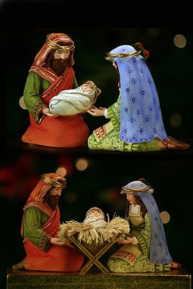 Nativity set.