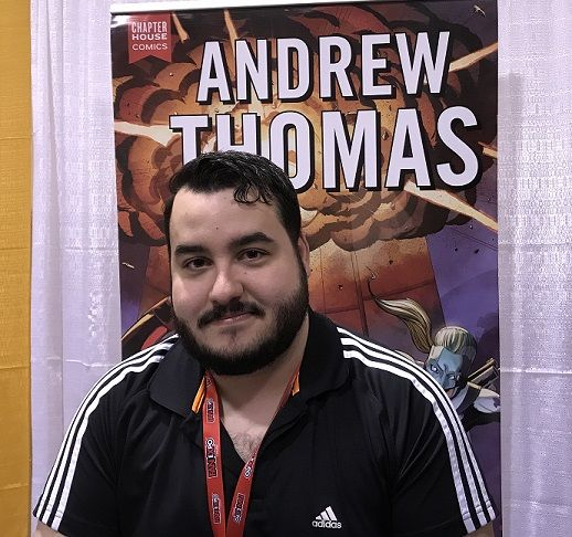 At Toronto Comicon 2018, Andrew Thomas talked about the 2018 Timmins Comicon exclusive, lots of work with Chapterhouse plus the Invasion Free Comic Book Day special, and the 2017 Canadian Indie Comic Book Wiki for Best Comic Book award.