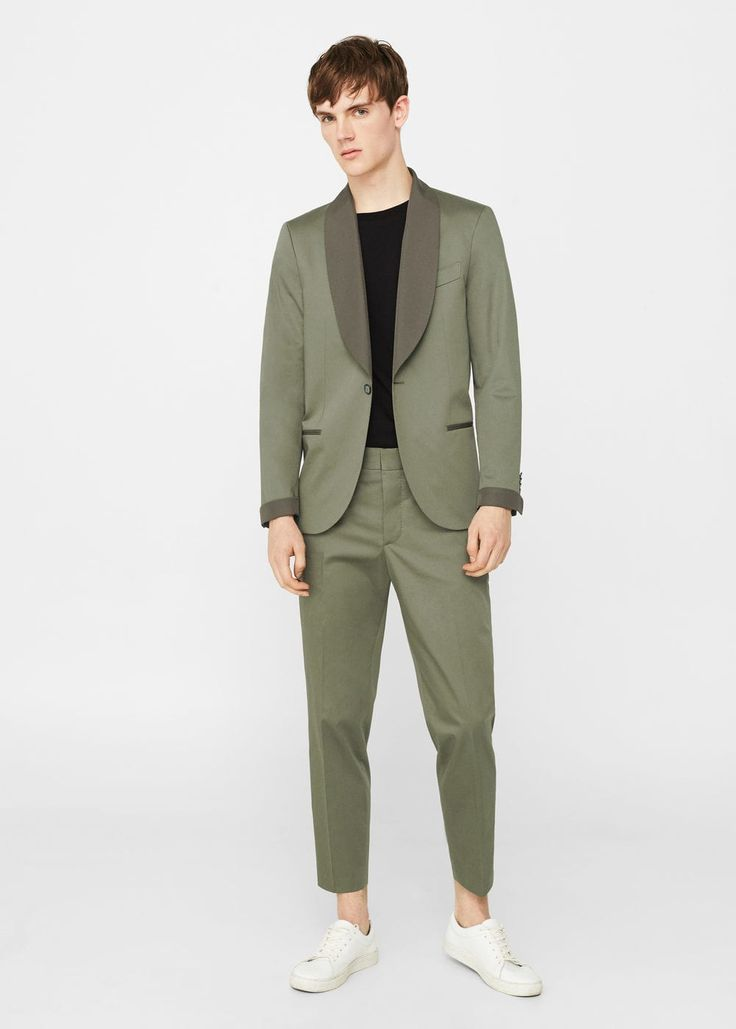 Pantalón traje slim-fit algodón | MANGO MAN