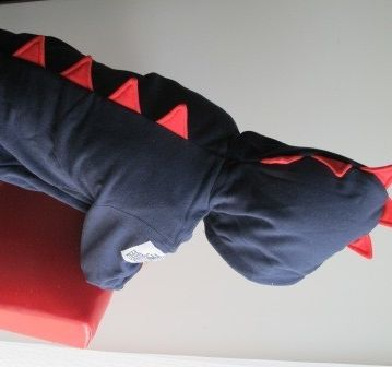 Dino Roar Dinosaur Jacket / Hoodie (sz 1-7) Navy with Red Spikes | Orcwood | madeit.com.au