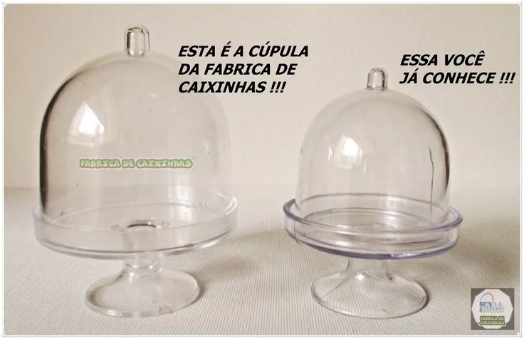 mini cúpula acrílico p/ doces 6x6 cm r$ 0,85 kit 102 unids