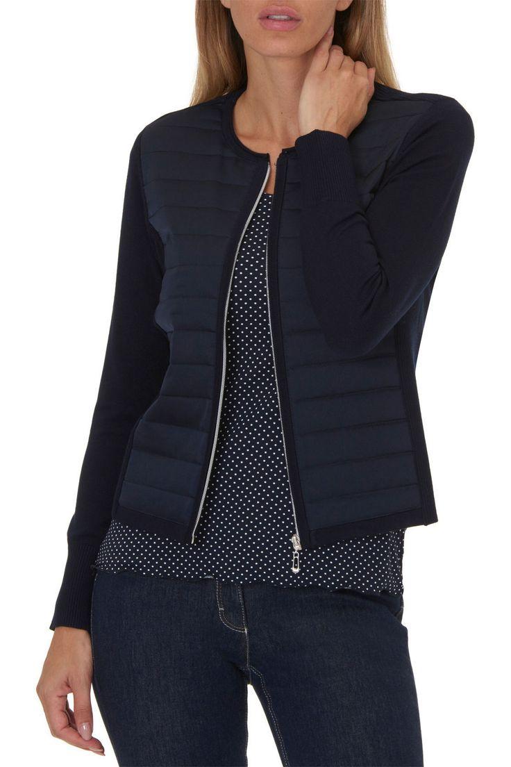 #BettyBarclay vest met doorgestikt voorpand #navyblue #cobaltBlue #blueShades #fashion #colortrends #trends